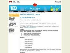 Ecozones Project Lesson Plan