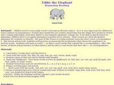 Eddie the Elephant Lesson Plan