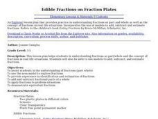 Edible Fractions on Fraction Plates Lesson Plan