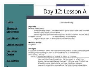 Editorial Writing Lesson Plan