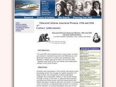 Educated African American Women: 19th and 20th Century Lesson Plan