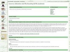 Education and the Founding of the Academies Lesson Plan
