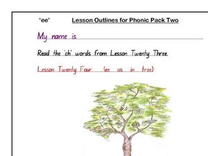 'EE' Words Worksheet