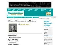Effects of Environment on Memory Lesson Plan