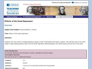 Effects of The Great Depression Lesson Plan