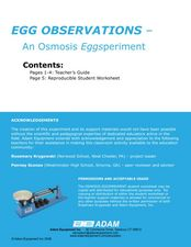 Egg Observations: An Osmosis Eggsperiment Lesson Plan