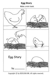Egg Story Mini Book Worksheet