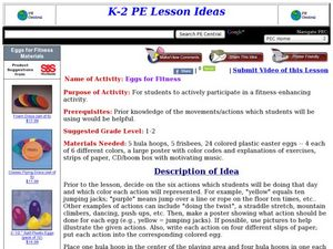 Eggs for Fitness Lesson Plan
