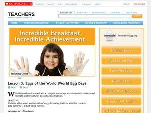 Eggs of the World (World Egg Day) Lesson Plan