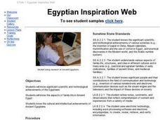 Egyptian Inspiration Web Lesson Plan