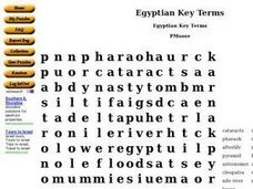 Egyptian Key Terms Worksheet