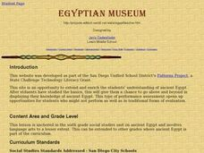 Egyptian Museum Lesson Plan