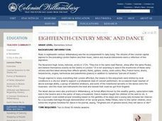 Eighteenth-Century Music and Dance Lesson Plan