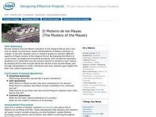 El Misterio del los Mayas (The Mystery of the Mayas) Lesson Plan