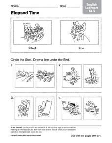 Elapsed Time English Learners 13.5 Worksheet