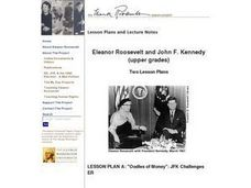 Eleanor Roosevelt and John F. Kennedy Lesson Plan