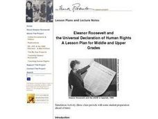 Eleanor Roosevelt and the Universal Declaration of Human Rights Lesson Plan