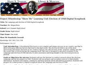 Election of 1948-Digital Scrapbook Lesson Plan