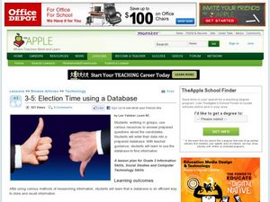 Election Time Using a Database Lesson Plan