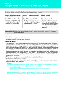 Electrical Safety Situations Lesson Plan