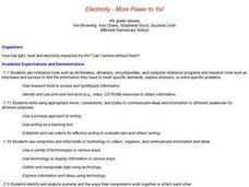 Electricity--More Power to Ya! Lesson Plan