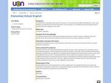 Elementary School English Lesson Plan