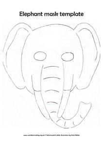 Elephant Mask Template Lesson Plan