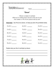Eleven Worksheet