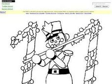 Eleventh Day of Christmas Coloring Page Worksheet