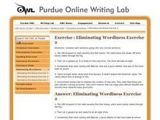 Eliminating Wordiness: Exercise 2 Worksheet