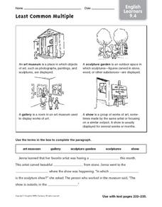 ELL Language Activity Worksheet