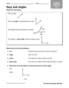 ELL: Rays and Angles Worksheet