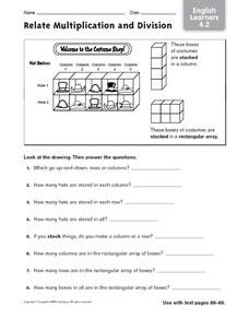 ELL: Relate Multiplication to Division Worksheet