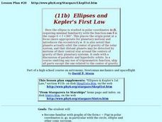 Ellipses And Kepler's First Law Lesson Plan