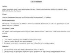 Email Riddles Lesson Plan