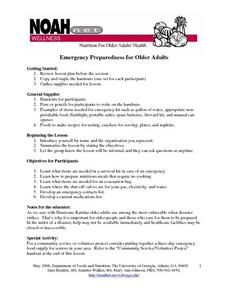 Emergency Preparedness for Older Adults Lesson Plan