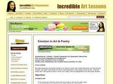Emotion in Art & Poetry Lesson Plan