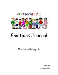 Emotions Journal Worksheet