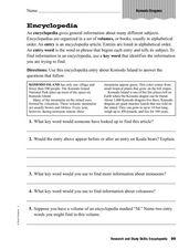 Encyclopedia Activity: Komodo Dragons 3rd - 4th Grade ...
