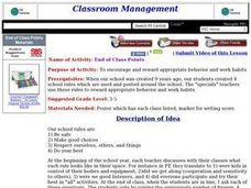 End of Class Points Lesson Plan