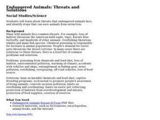 Endangered Animals: Threats and Solutions Lesson Plan