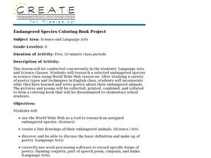Endangered Species Coloring Book Project Lesson Plan