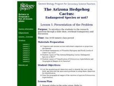 Endangered Species Problem Lesson Plan