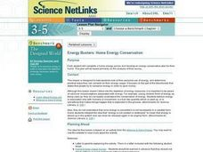 Energy Busters:  Home Energy Conservation Lesson Plan