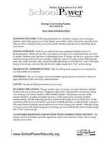 Energy Conservation Games Lesson Plan