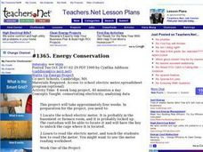 Energy Conservation (Middle, Mathematics) Lesson Plan