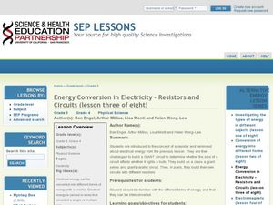 Energy Conversion in Electricity – Resistors and Circuits Lesson Plan
