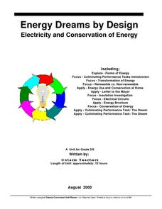 Energy Dreams by Design Lesson Plan