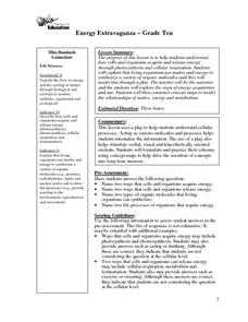 Energy Extravaganza Lesson Plan