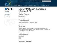 Energy Motion in the Ocean Lesson Plan